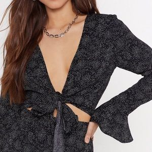 Spot On Cropped Tie Top